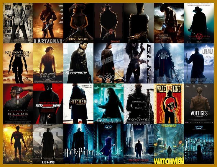 """Movie posters are all the same.... The """"silhouette"""" shot"""