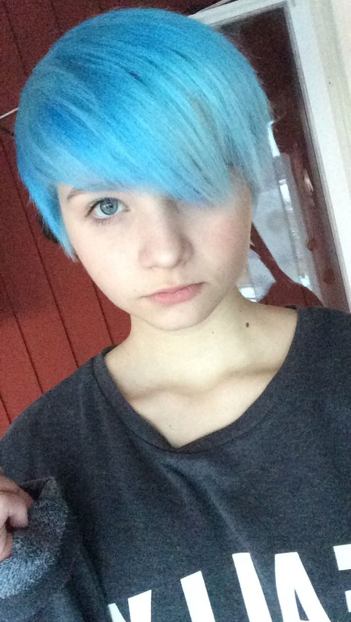 Fluffy blue hair ⭐️ [look it me]