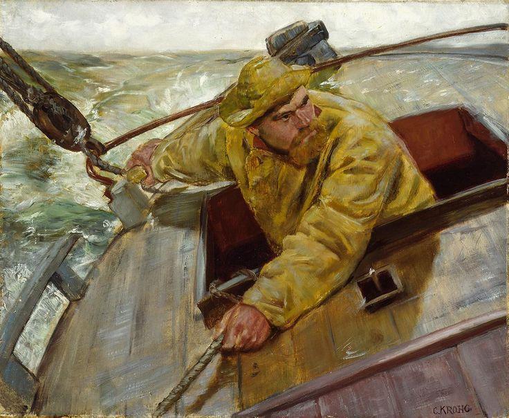 Christian Krohg - Hardt le, 1882