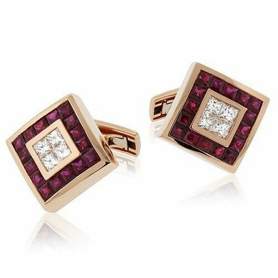Mens cufflinks jewelry solid 925 sterling silver accessories shirt fashion red  #NikiGems