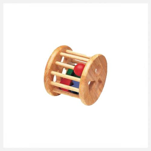 Rolling Sorter - As a rattle, rolling toy or shape sorter.. this toy will grow with your child's skills and is ethically made from sustainable wood.