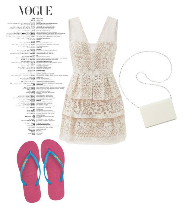 """""""Flip flops everywhere"""" by thisismedika on Polyvore featuring BCBGMAXAZRIA, Havaianas and Nine West"""