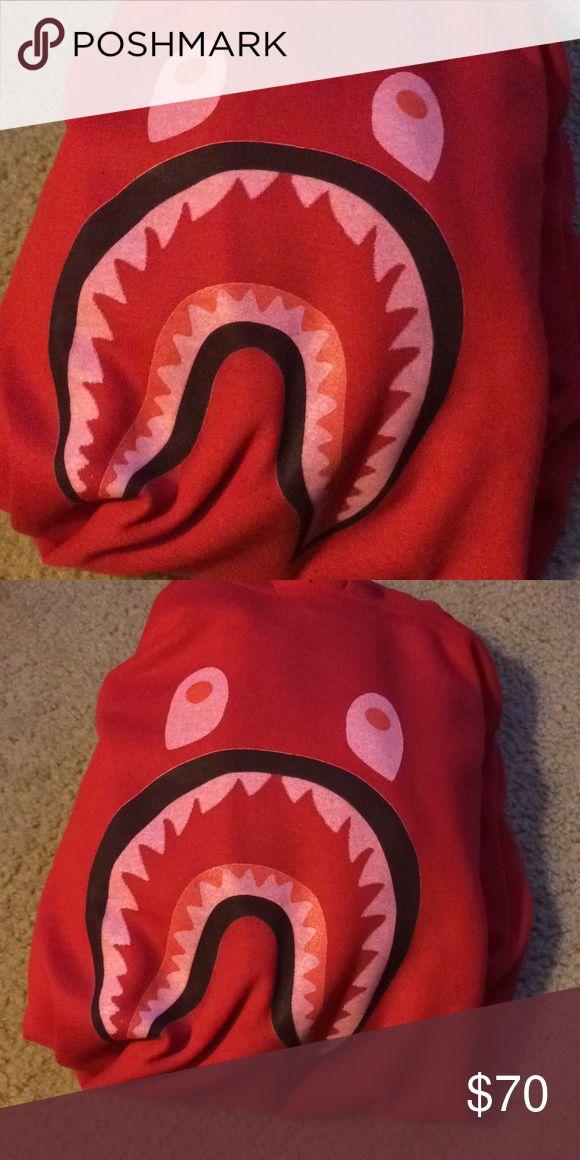 Red Bape Hoodie Soft comportale inside with warm hood on top Bape Jackets & Coats