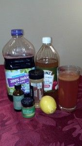 I've been drinking this minus the grape juice for years. Good reminder of why it's good for me:)