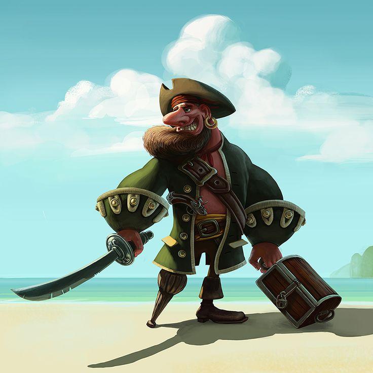 Pirate Illustration https://www.facebook.com/lilielartcom