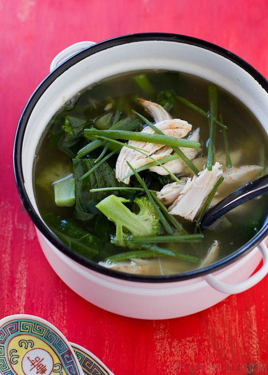 ... soup with greens lemongrass and ginger healing chicken soup with