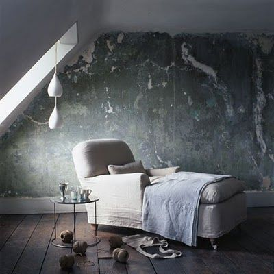 Why paint your wall when enhancing the natural concrete look can add so much more atmosphere?