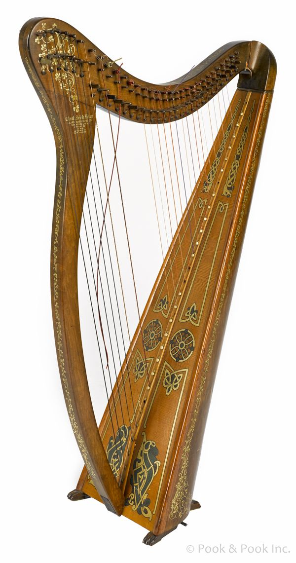 Clark child's harp (Irish) | Someone should fix that broken string.