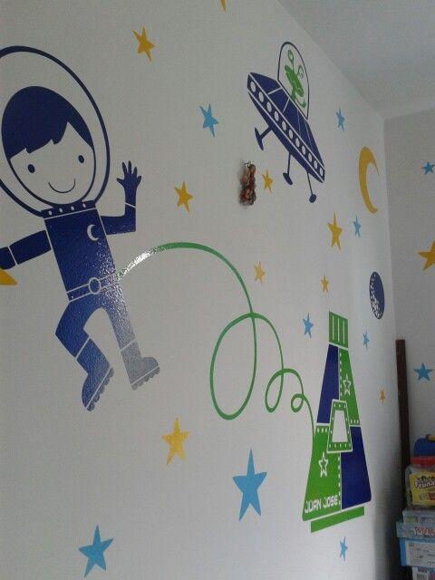 Cuarto spacial vinilo decorativo / decoración de cuartos infantiles juveniles 3104325503