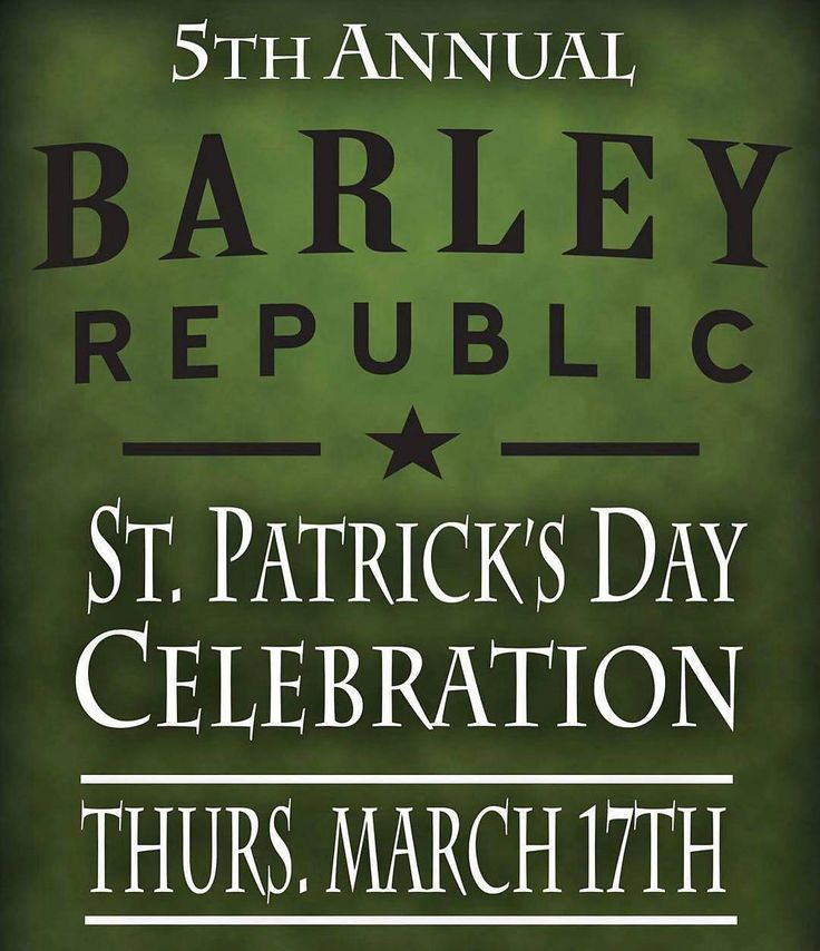 #stpatricksday @barleyrepublic  ST. PATRICK'S DAY is right around the corner! Stay tuned in this week as we reveal details about our 5th Annual Saint Patrick's Day Celebration!! #staugustine #happyhour #drinks #florida #stpattysday
