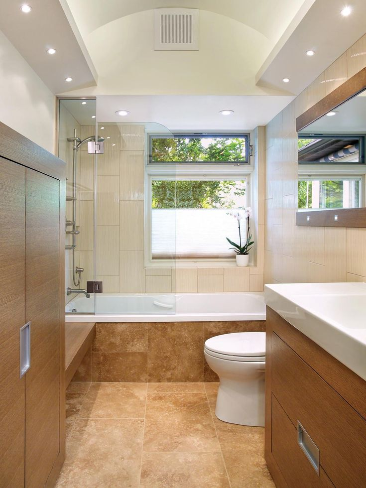 a small bath with simple design and great shower system find some here http