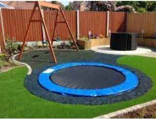 Way safer than a regular trampoline (or pool!).