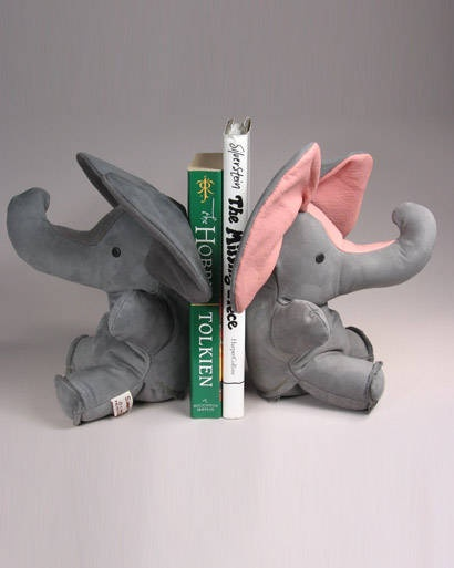 These little leather bookends are heavy on personality and will keep a little library organized and adorable. Add a few favorite board books and you have a winning gift that will last for years.