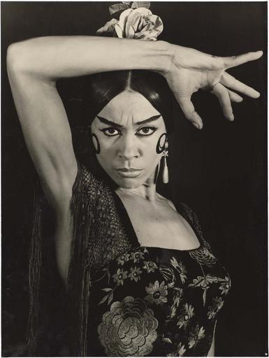 Manuela Vargas, flamenco dancer, by Therese Le Prat