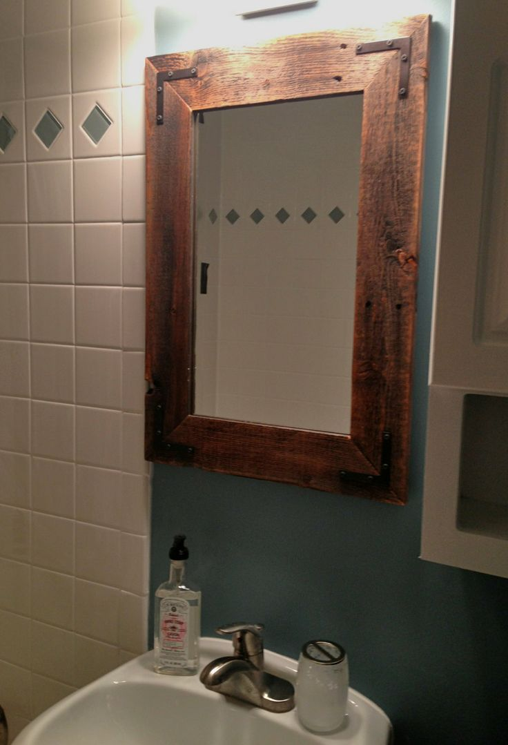 18x24 Mirror Reclaimed Wood Farmhouse Mirror By