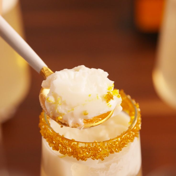 Take a champagne shot at midnight this year. #champagne #nye #dessert #newyearseve #newyears