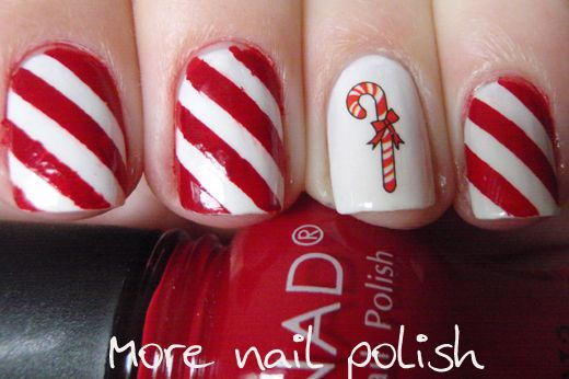 Christmas nail artChristmas Nailart, Art Candies, Art Design, Christmas Nails Art, Candy Canes, Canes Nails, Candies Canes, Art Nailart, Christmas Nail Art
