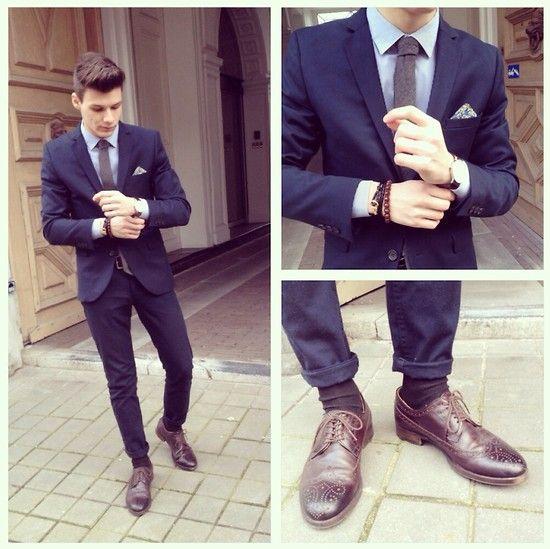 H&M Blue Suit Jacket, H&M Blue Tailored Pants, Zara Shoes ...