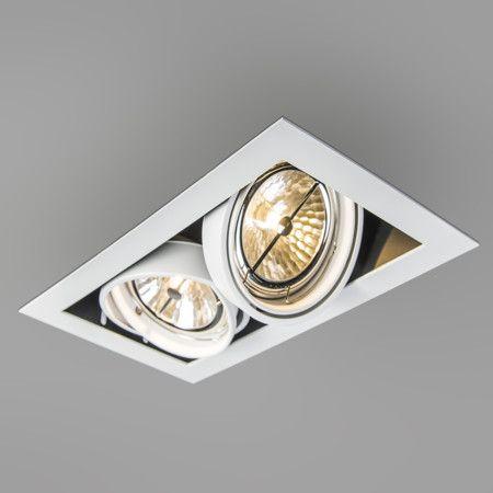 Beautiful Einbaustrahler Oneon wei Top Designer Einbaustrahler mit Kardangelenk Verstellung Geeignet f r die g ngigen Halogen und LED Leuchtmittel