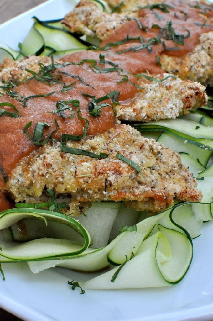 Paleo Chicken Parmesan | Fed and Fit ...avoid the Italian food bloat with this delicious healthy Valentines Day dinner option.