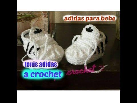 Tenis Adidas a Crochet Para Bebe (nuevo video) - YouTube