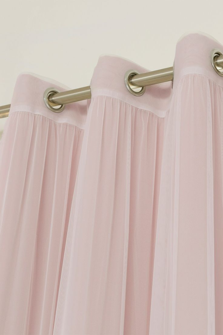 Mix & Match Tulle Sheer & Blackout 4-Piece Curtain Set - Blush Pink by Best Home Fashion Inc. on @HauteLook