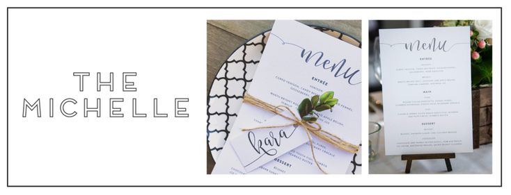 """MENUS & OTHER """"ON THE DAY"""" STATIONERY We love creating """"On The Day"""" Stationery items, such as;menus, place cards, table numbers, signage and moreto suit t"""