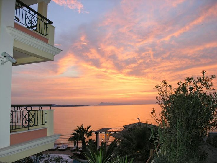 You will come face-to-face with the sun several times at #DelfinoBlu! #Corfu #Sunset