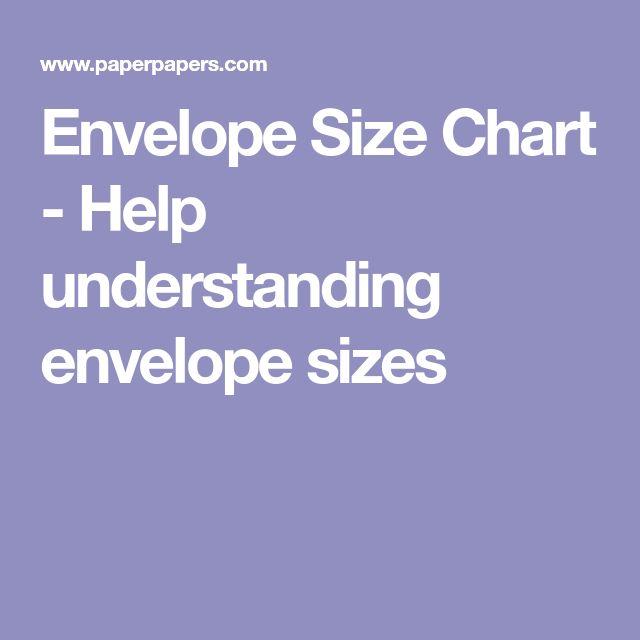 Envelope Size Chart - Help understanding envelope sizes