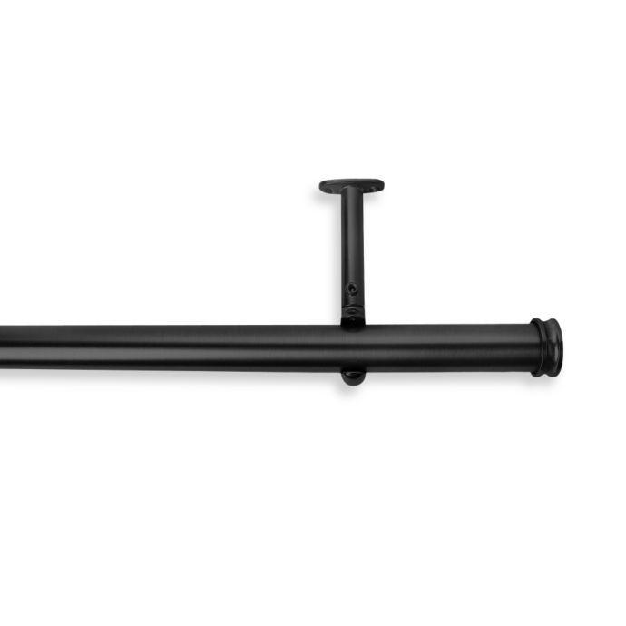 Cambria Premier Complete Decorative Drapery Rod In Satin Black
