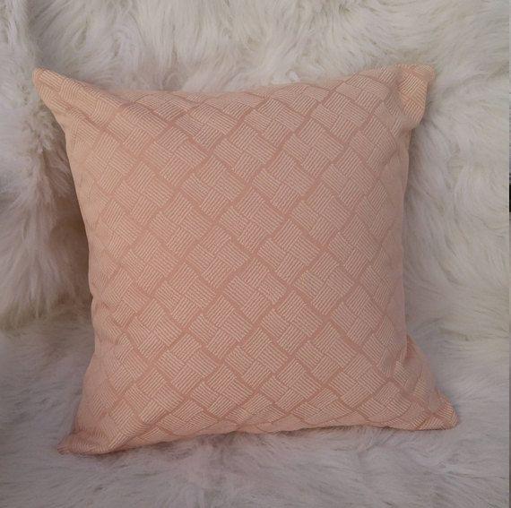 Pale Peach Pillow Cover Blush Cushion Cover Soft Peach
