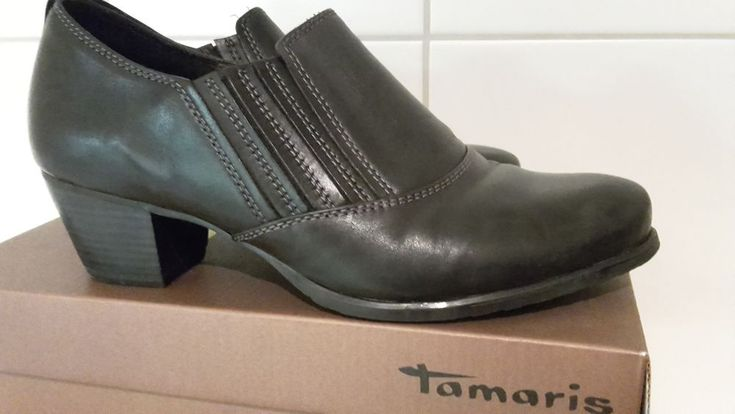 Tamaris, Trotteur, Anti Shokk, Gr.40, schwarz, Leder | Kleidung & Accessoires, Damenschuhe, Pumps | eBay!