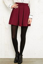 Cooperative Box Pleat Textured Skirt at Urban Outfitters