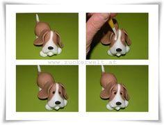 Fondant Dog Tutorial | tutoriales fondant,pasta de goma