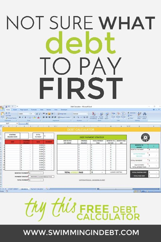 Not sure what debt to pay off first? Try this FREE debt calculator to help you decide how to pay off the debt.