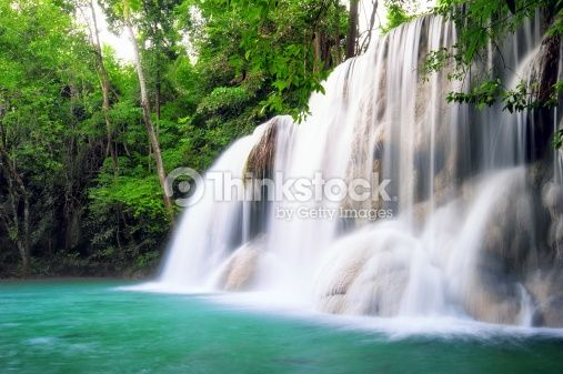 Stock Photo : Waterfall in tropical forest of Thailand