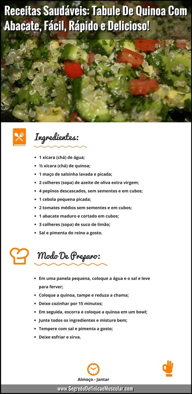 Receitas Saudáveis Tabule De Quinoa Com Abacate