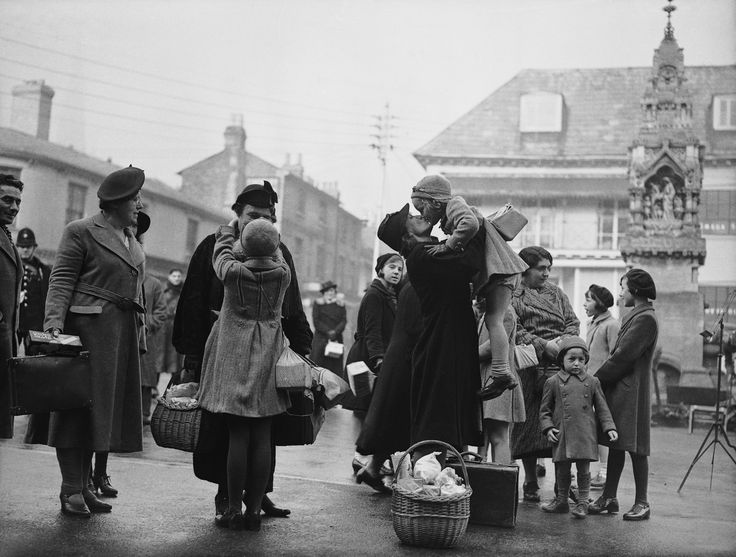 Parents from London are reunited with their evacuated children in Saffron Walden, Essex, during World War II, 22nd October 1939. Nearly 1,000 parents attended the reunion party, hosted by the Mayor of the town.