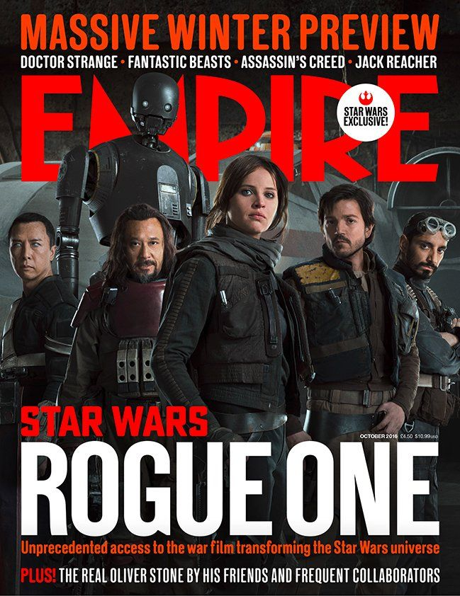 The Cast of ROGUE ONE Lines Up on Empire's New Cover — GeekTyrant
