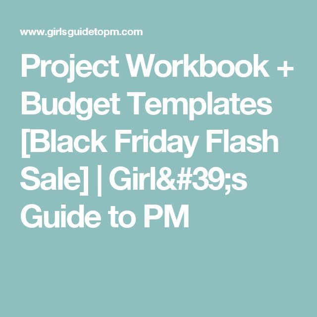 Project Workbook + Budget Templates [Black Friday Flash Sale] | Girl's Guide to PM