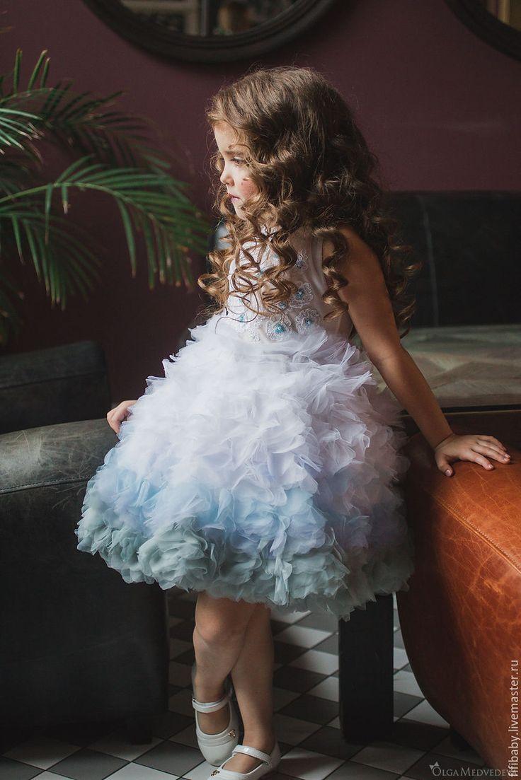 Купить Нарядное пышное платье для девочки - комбинированный, нарядное платье, пышное платье