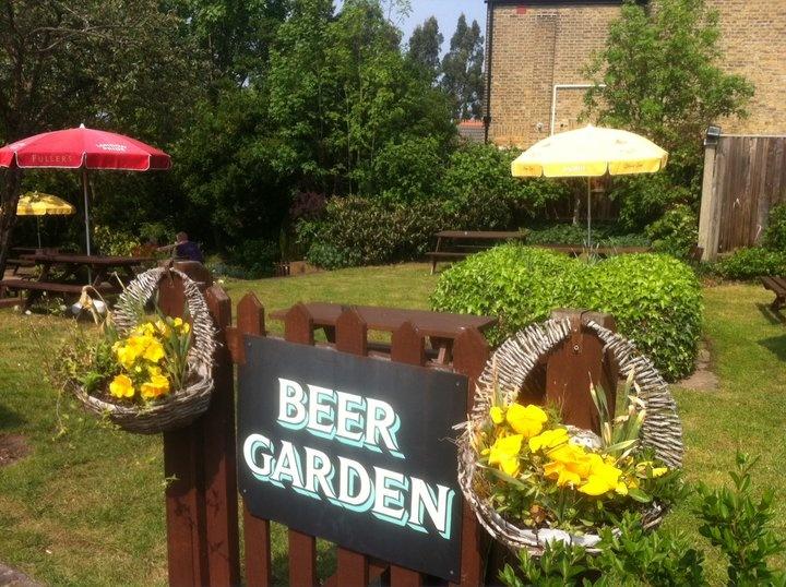 Beer Garden Inspired Backyard