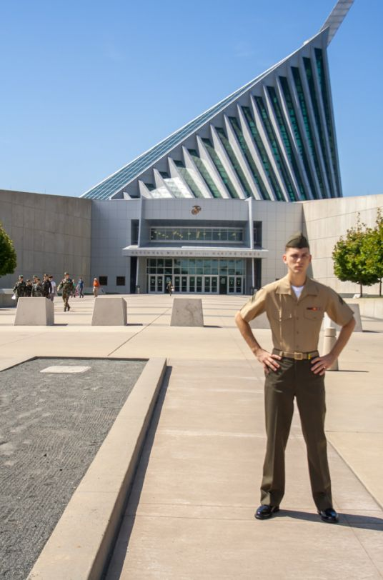 National Marine Corps Museum, if you can visit with a Marine do it. Their perspective and reference for their USMC history is awe inspiring. BTW, this is my son.