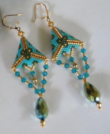 earrings-delica 11,Swarovski,cristals..