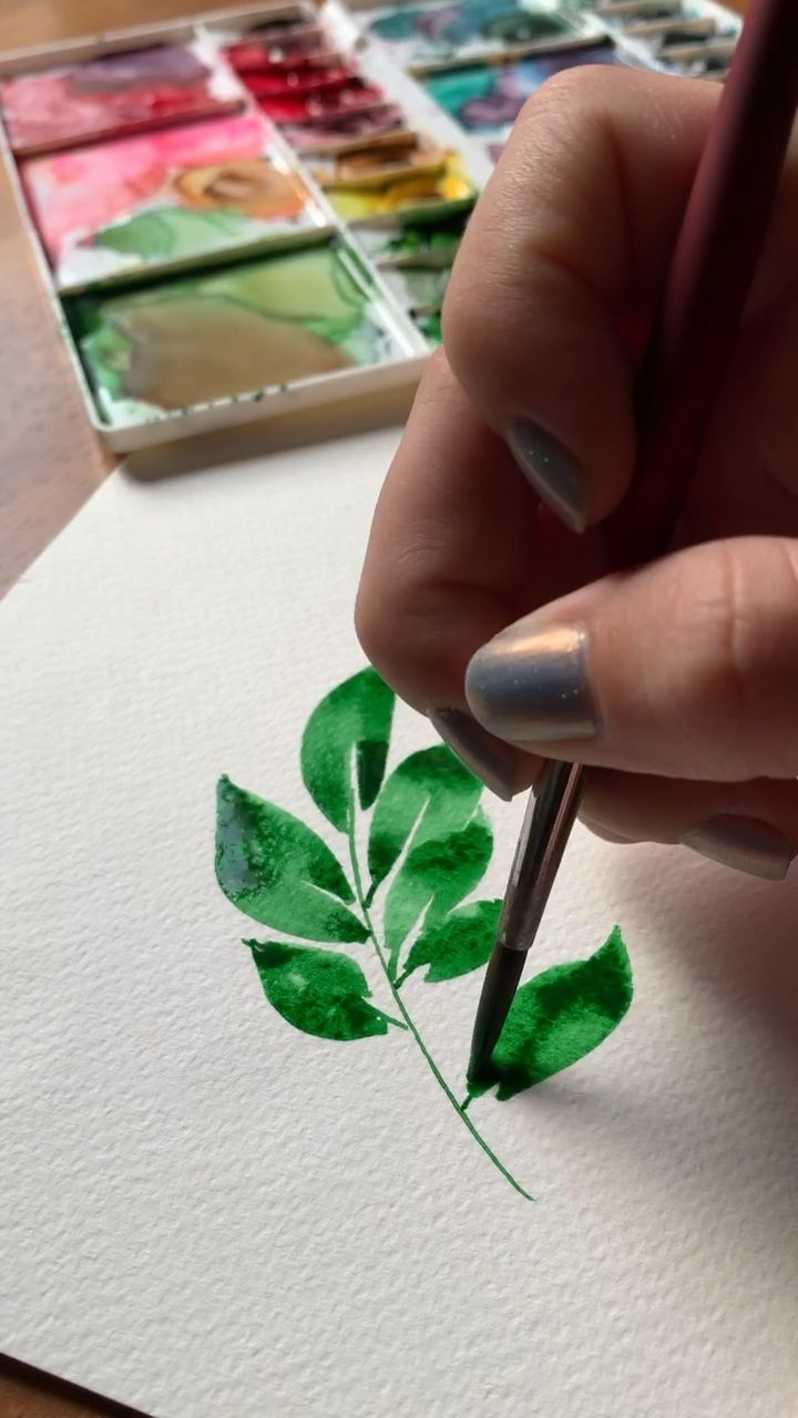Feb 21, 2020 - Painting watercolor leaves is so relaxing, and in my new Skillshare class, we go over 5 of the top trending bouquet leaves! Check out the class now!