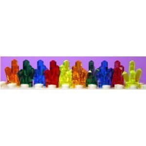 Lego Power Miners 10 Crystals in 5 Difrent Coulors by LEGO. $11.27. Set of 10 Crystals in 5 different colors as shown in picture. Approx. 1/2 inch tall/Choking Hazard for Children 3 and Under. Colors included are 2 Red, 2 Green, 2 Blue, 2 Orange, 2 Neon Green (Looks Yellow). Fits inside Lego Rock Monster Minifigures Mouth. Lego Power Miners Crystals. Lego Power Miners Crystals set of 10 Crystals in 5 different colors as shown in picture. Colors included are 2 Red, ...
