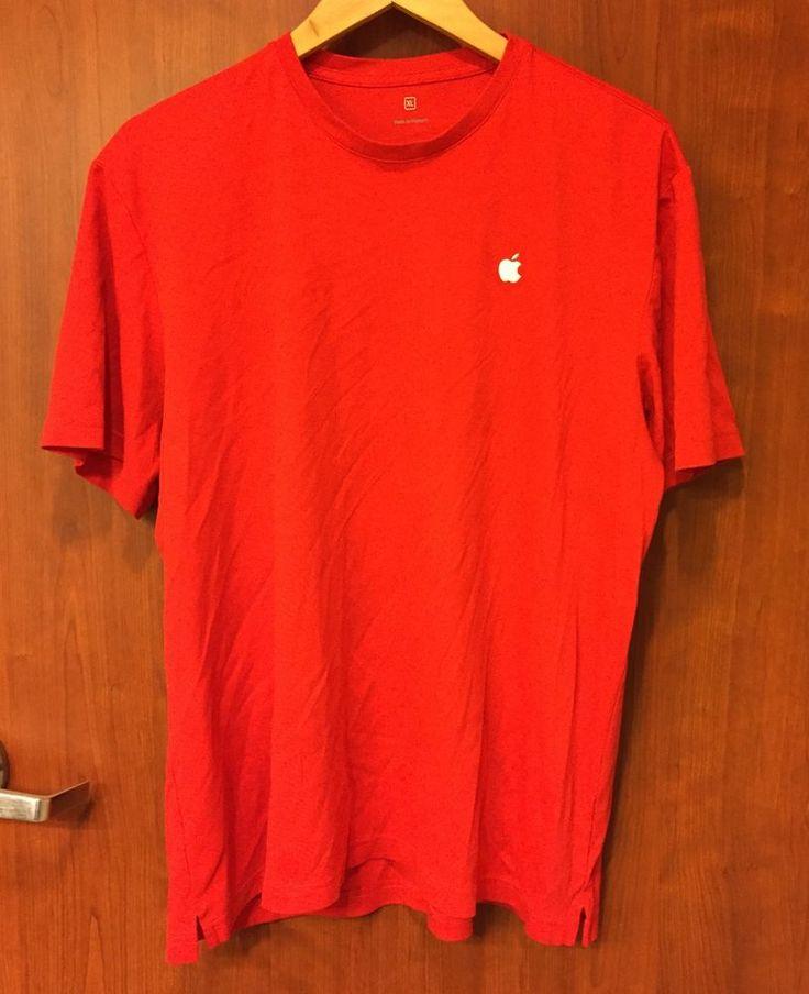 ☀Apple Computer Store Employee☀Staff Mac Men's Embroidered Logo Red Shirt XL  | eBay