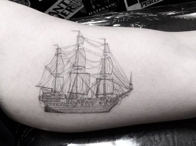Diagram of a Ship Tattoo by Doctor Woo