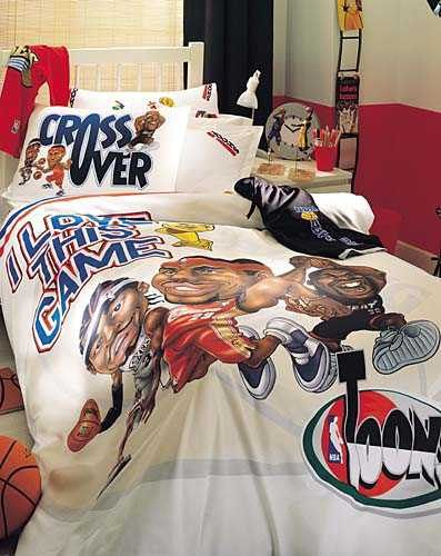 NBA Toons Bedding Set Single by BaharHomeTextile on Etsy   65 00. 17 Best images about Rico s New Bedroom theme on Pinterest