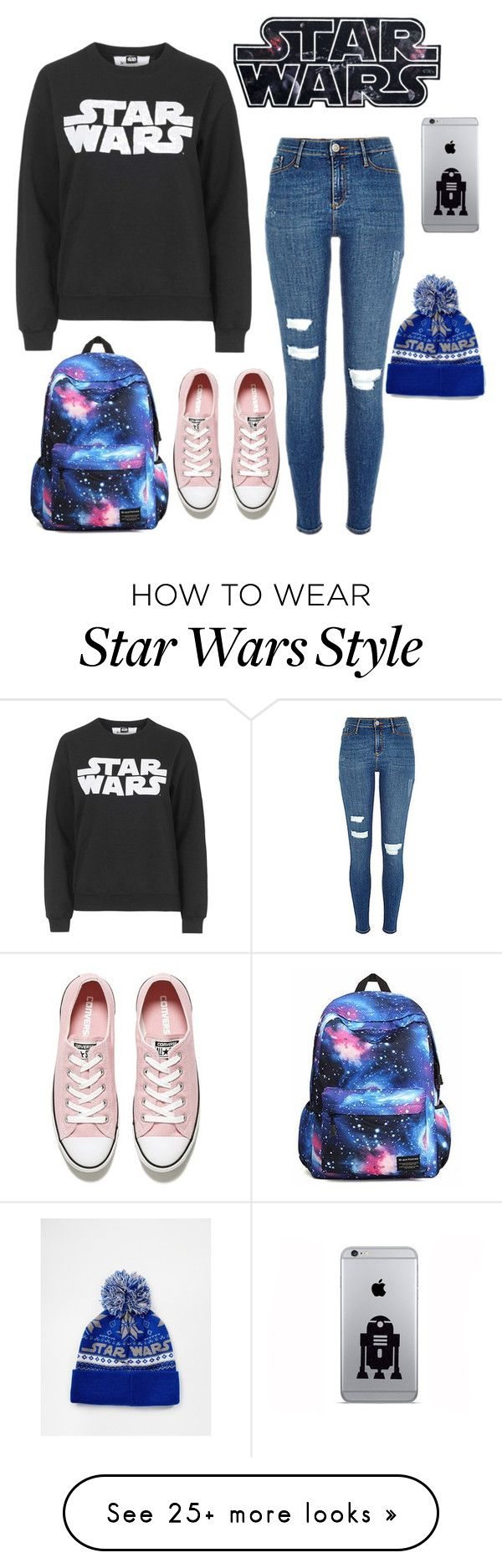 """""""Star wars & Chill?"""" by fan-girl-mode on Polyvore featuring Tee and Cake, ASOS and Converse"""